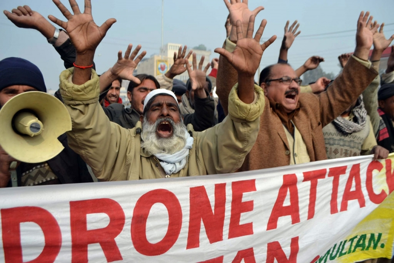 <p>Pakistani demonstrators shout anti-US slogans during a protest in Multan in January 2013, against the drone attacks in Pakistan's tribal areas. The Pakistan Taliban's second-in-command, Wali-ur-Rehman, was reportedly killed in a drone strike on May 29, 2013.</p>