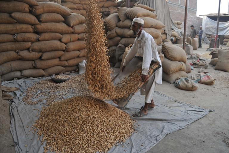 <p>An Afghan laborer works at a peanut factory on the outskirts of Jalalabad.</p>