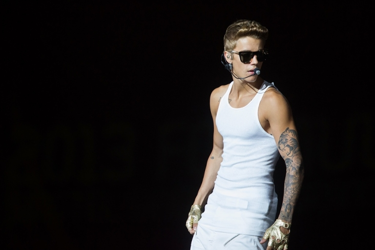 <p>Justin Bieber performing in Singapore on Sept. 23.</p>