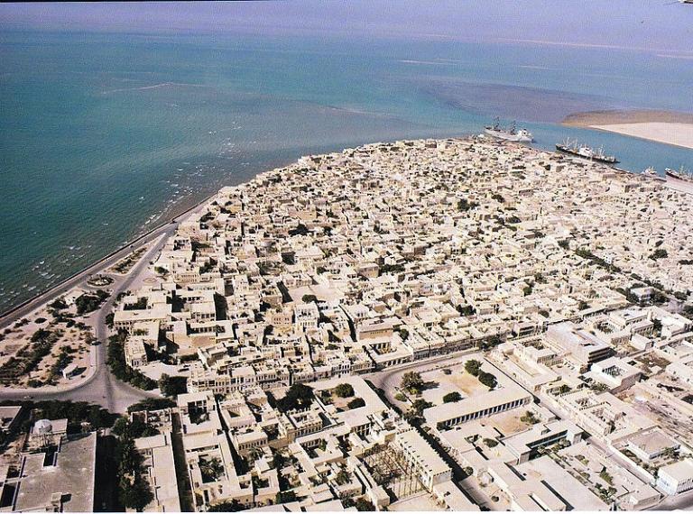 <p>The city of Bandar Bushehr in Iran.</p>