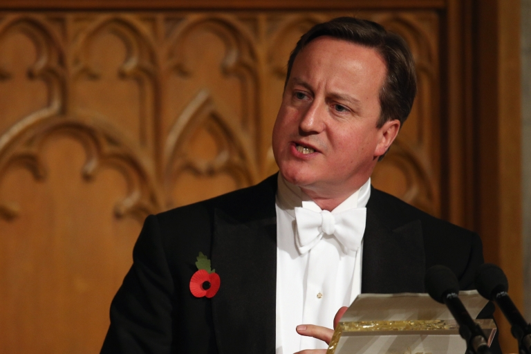 <p>Cameron at the The Lord Mayor's Banquet. He wants