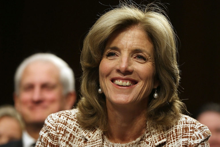 <p>Caroline Kennedy smiles during her Senate Foreign Relations Committee confirmation hearing on Capitol Hill in Washington, DC. Kennedy became the first female U.S. Ambassador to Japan on Nov. 12, 2013.</p>