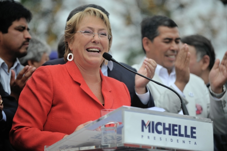 <p>Michelle Bachelet, after winning a wide margin in the first round, is expected to take back the presidency in next month's runoff.</p>
