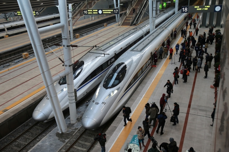 <p>The 1,425-mile line between Beijing and Guangzhou, which started on Dec. 26 2012, is the world's longest high-speed rail route. To continue its economic miracle, Chinese leaders have indicated that they will rely increasingly on markets.</p>