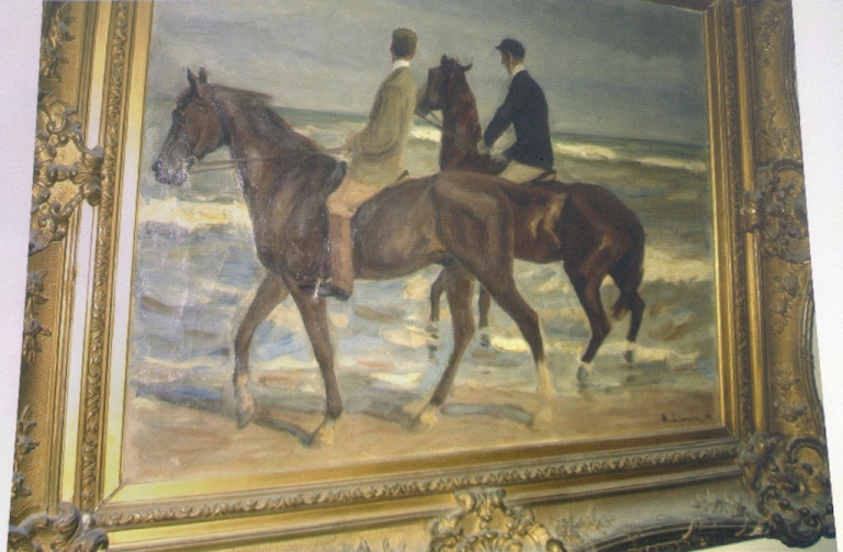 <p>A fake painting attributed to Max Liebermann during a press conference in Augsburg, Germany, on Nov. 5, 2013.</p>