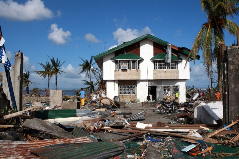 <p>TACLOBAN, PHILIPPINES - NOVEMBER 10:  Widespread devastation is left behind in the aftermath of Typhoon Haiyan on November 10, 2013 in Tacloban, Leyte, Philippines.</p>