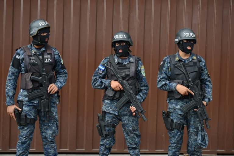<p>Are beefed-up police like these guys the real winners of Honduras' election?</p>