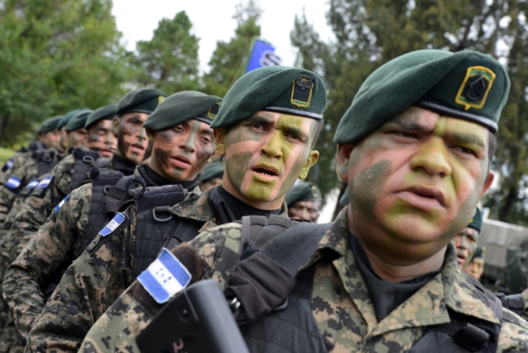 <p>Honduras' newly created military police are a hot button in the country's election.</p>