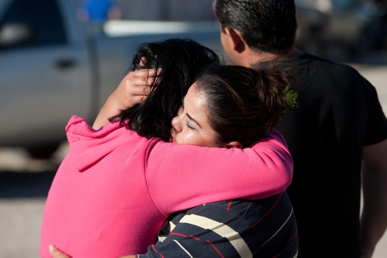 <p>Relatives of eight family members killed in Ciudad Juarez, Mexico.</p>