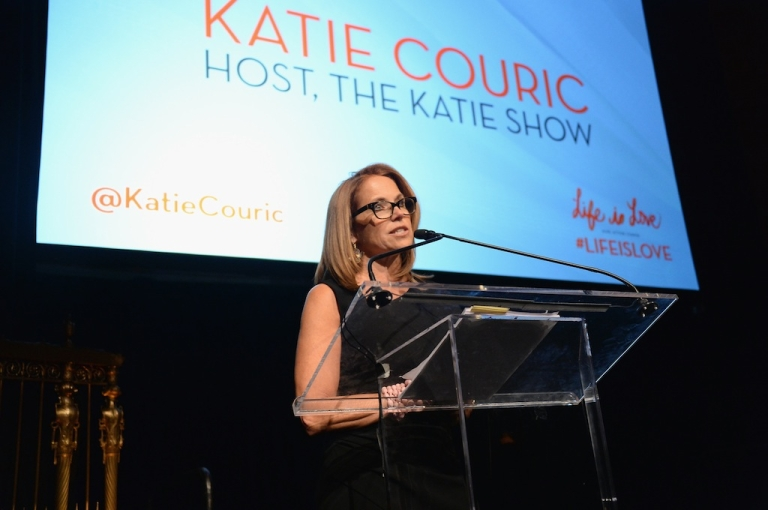 <p>Katie Couric speaks at the Somaly Mam Foundation Gala 'Life Is Love' on Oct. 23, 2013 in New York City.</p>
