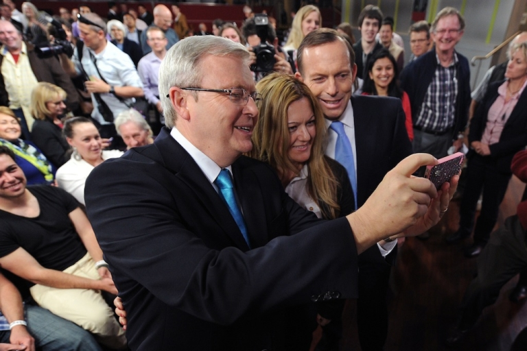 <p>Former Australian Prime Minister Kevin Rudd takes a