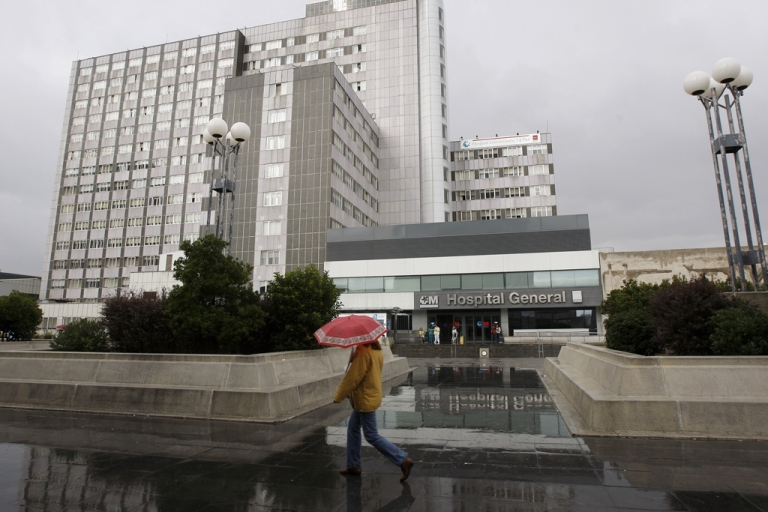 <p>A general view of La Paz Hospital on Oct. 2008 in Madrid, Spain.</p>