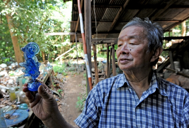 <p>Five years after losing his life's work to Cyclone Nargis, glass factory owner Myat Kywe gets by selling glass scattered across acres of his property.</p>