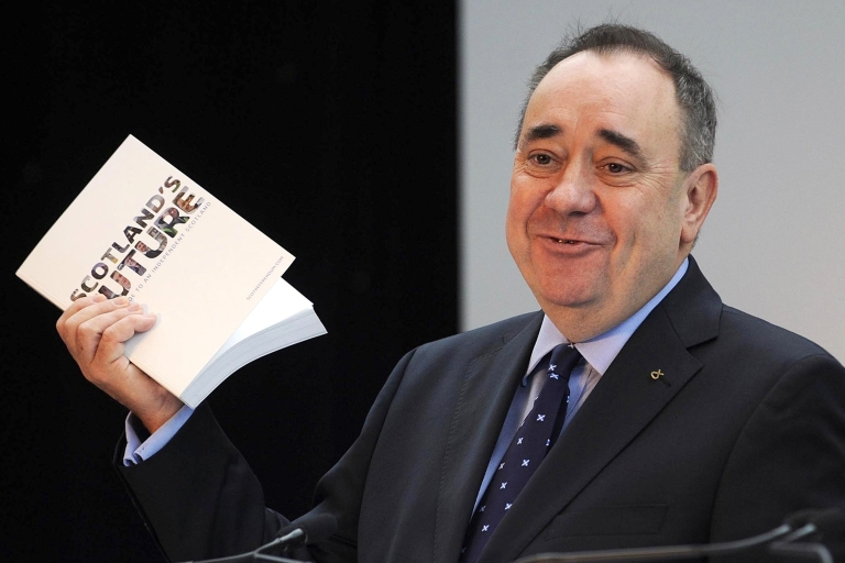 <p>Salmond reveals the white paper on Tuesday.</p>