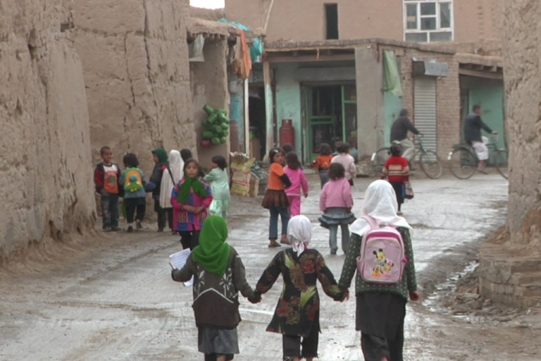 <p>Girls walk home from school in Kabul Province, Afghanistan.</p>