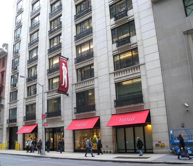 <p>A Barneys store in New York City.</p>