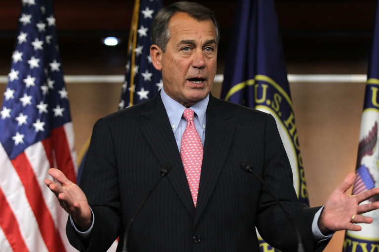 <p>U.S. Speaker of the House Rep. John Boehner (R-OH) speaks during a news conference in 2012 on Capitol Hill in Washington, DC.</p>