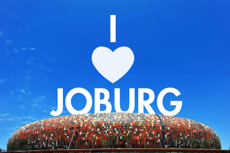 <p>Photo shows Soccer City stadium, which resembles an African cooking pot, in Soweto just outside of Johannesburg on December 13, 2009. Soccer City Stadium is the main venue for The FIFA 2010 World Cup, held for the first time in Africa, and the stadium will host the opening match between South Africa and Mexico as well as the World Cup Final match. AFP PHOTO / ALEXANDER JOE (Photo credit should read ALEXANDER JOE/AFP/Getty Images)</p>