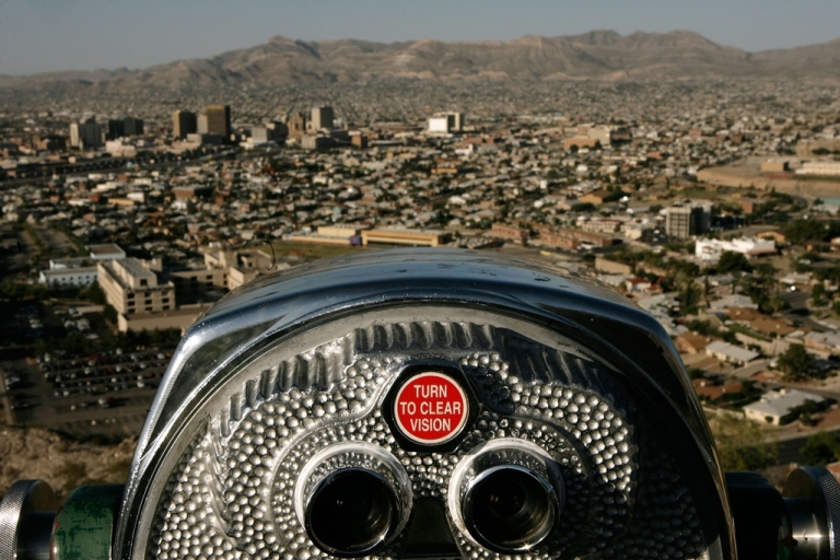 <p>Ciudad Juarez and El Paso as seen from the Franklin Mountains.</p>