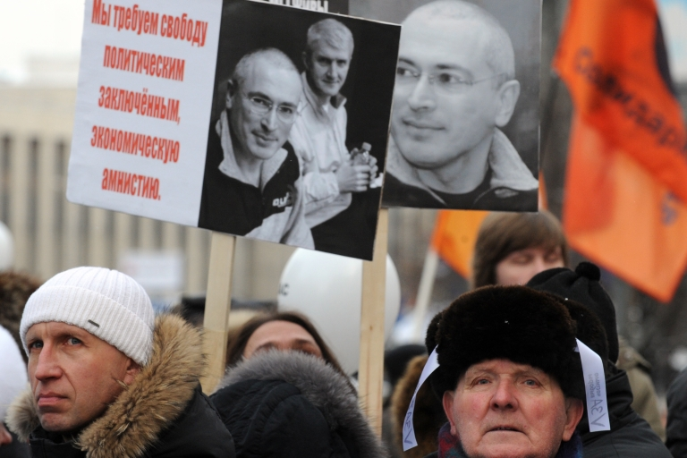 <p>A potent symbol for anti-Kremlin protesters, Khodorkovsky remains irrelevant for most Russians.</p>