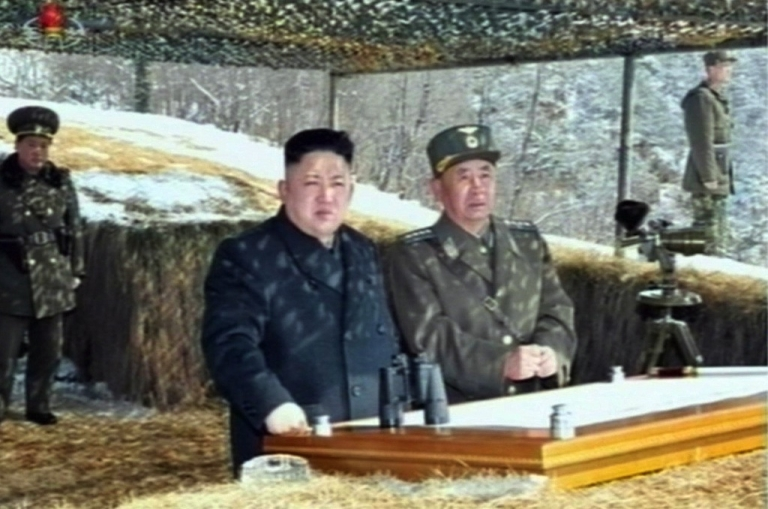 <p>This video grab taken from North Korean TV on March 20, 2013 shows leader Kim Jong-Un's overseeing a live fire military drill. An American minister accuses the regime of massacring prisoners, although the evidence is unclear.</p>