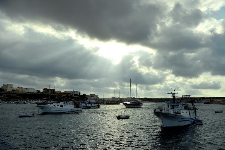 <p>Lampedusa harbor, Oct. 5, 2013.</p>