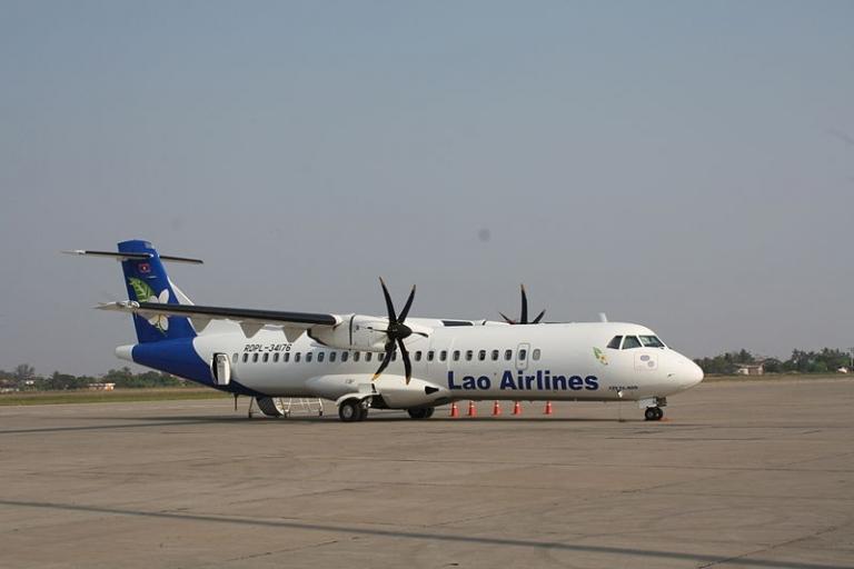 <p>A Lao Airlines ATR72-500 aircraft.</p>