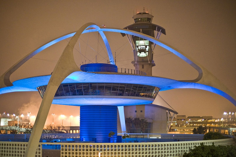 <p>The control tower at Los Angeles International Airport, or LAX.</p>
