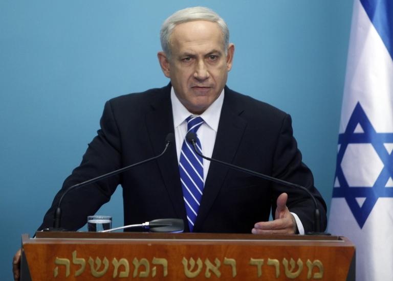 <p>Israeli Prime Minister Benjamin Netanyahu makes a statement to the press in 2012 in Jerusalem, Israel.</p>