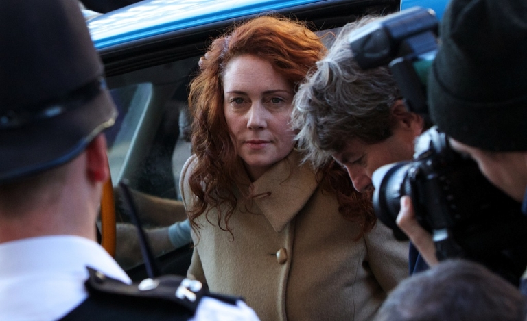 <p>Former News International Chief Executive Rebekah Brooks arrives for the first day of the phone-hacking trial at London's Central Criminal Court on Oct. 28, 2013.</p>