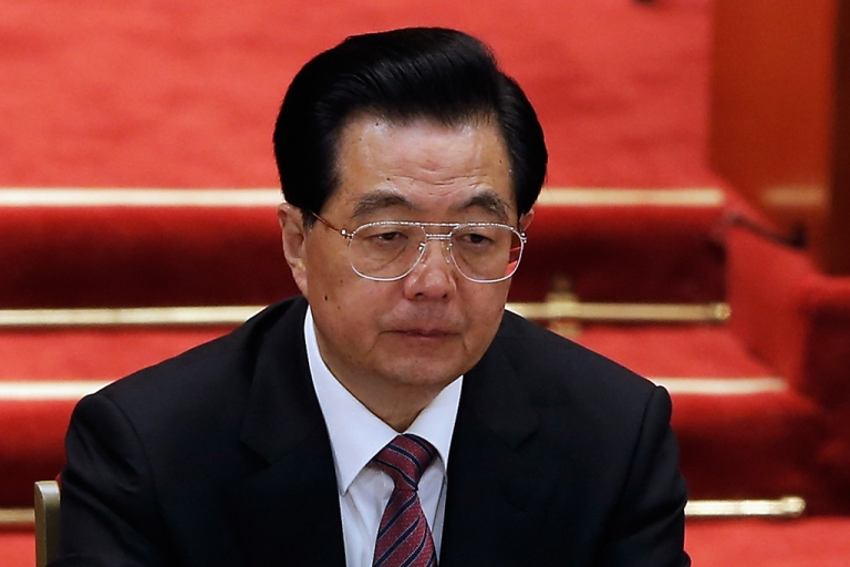 <p>A Spanish court has agreed to hear charges of genocide against former Chinese President Hu Jintao, pictured here.</p>