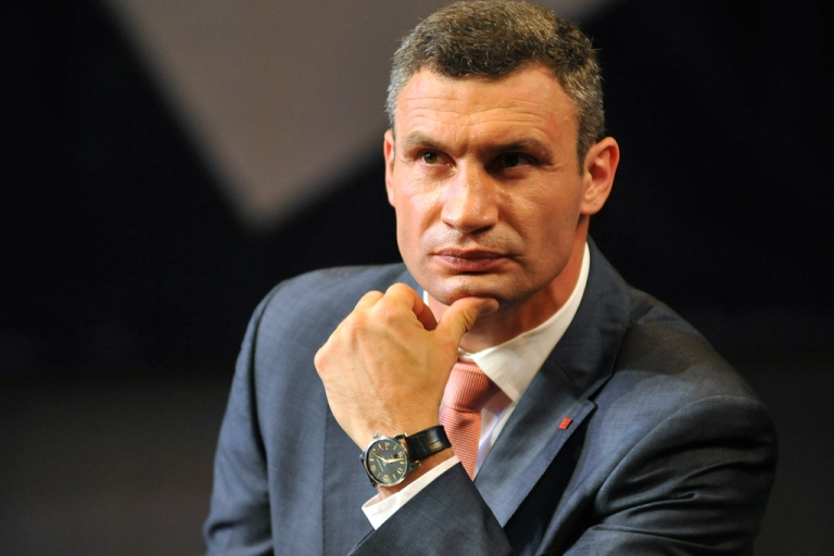 <p>Vitaly Klitschko, leader of the Ukrainian opposition UDAR (Punch) party, announced in October that he would run for president.</p>