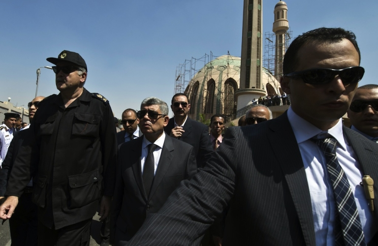 <p>Egypt's interior minister Mohamed Ibrahim's convoy was attacked by a bomb on Thursday as he left his residence in Nasr City.</p>