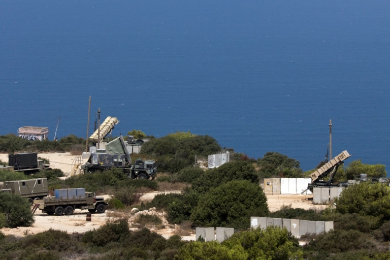 <p>Patriot surface-to-air missile batteries are positioned in the Mediterranean coastal city of Haifa north of Israel on August 29, 2013. On September 3, Israel announced that it had carried out a missile test in the Mediterranean Sea.</p>