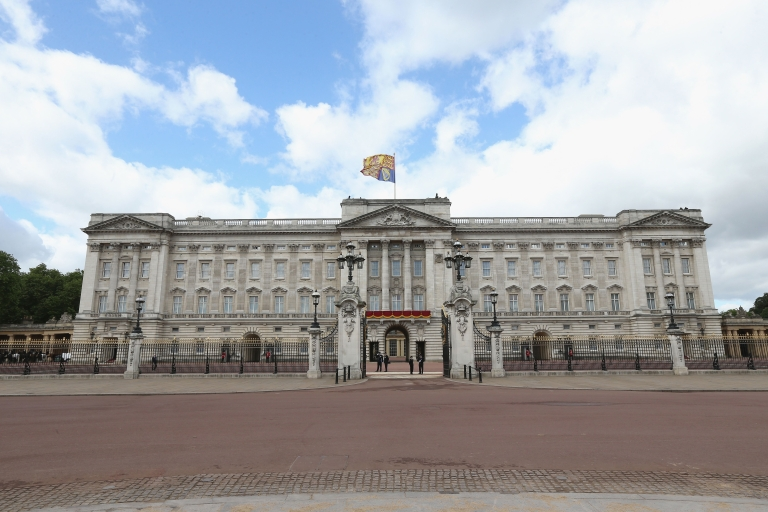 <p>A general view of Buckingham Palace prior the annual Trooping the Colour Ceremony on June 15, 2013, in London.</p>
