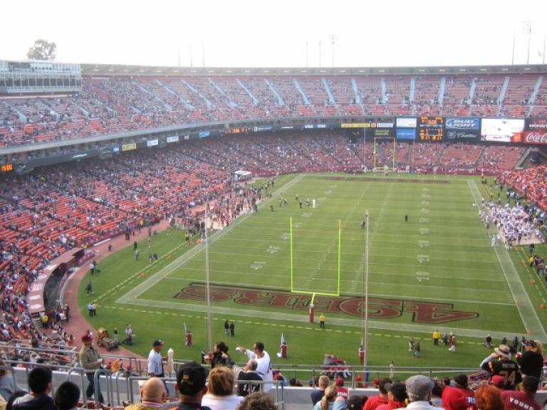 <p>San Francisco's Candlestick Park sports arena.</p>
