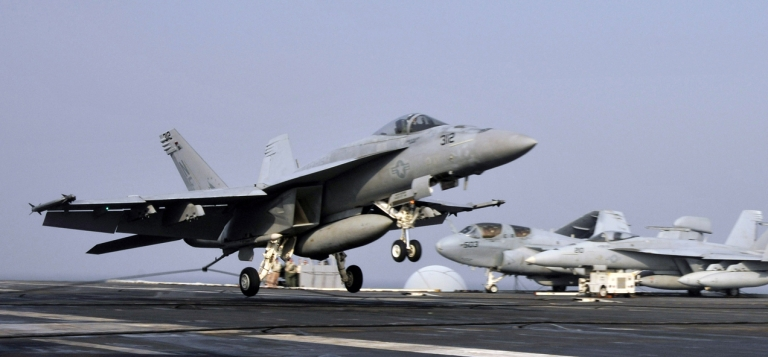 <p>An F/A-18E Super Hornet, similar to the set of fighter jets Boeing is hoping to sell to Brazil.</p>