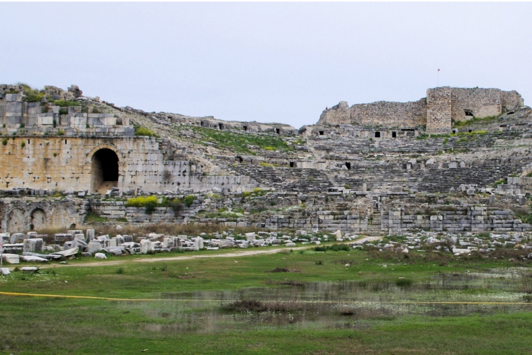 <p>The remains of the ancient theater in Miletus, Turkey.</p>