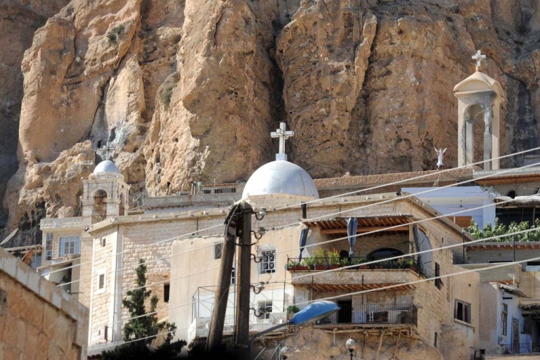 <p>A picture shows Mar Takla Greek Orthodox monastery in the Syrian Christian town of Maalula on Sept. 7, 2013. Maalula is a symbol of the Christian presence in Syria, and many of its inhabitants speak Aramaic, the language spoken by Jesus Christ that only small, scattered communities around the world still use.</p>
