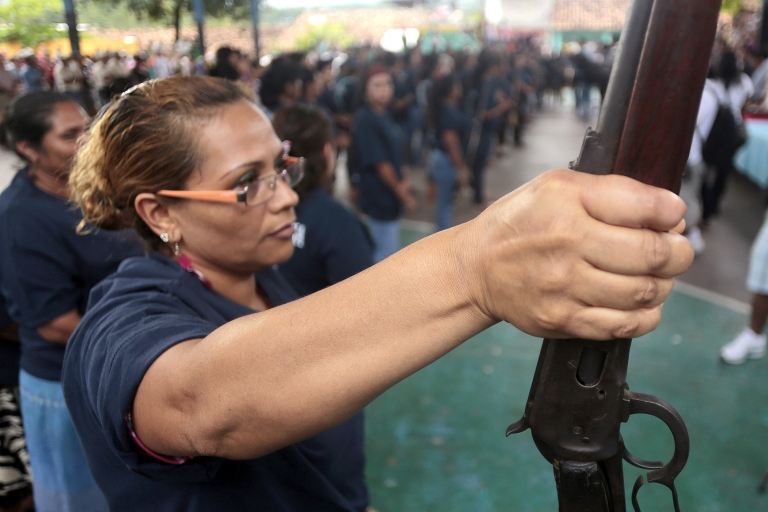 <p>Mexican women, like these in Acapulco, have joined community vigilante militias taking up arms in self-defense.</p>
