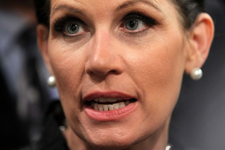 <p>Rep. Michele Bachmann (R-MN) after a presidential debate in South Carolina, Nov. 12, 2011.</p>