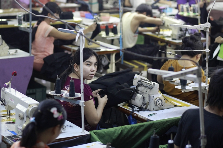 <p>As sanctions against Myanmar are lifted, she may soon stitch your clothes. Good news?</p>