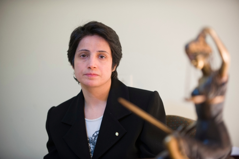 <p>Iranian lawyer Nasrin Sotoudeh in Tehran on November 1, 2008. Sotoudeh was reportedly released from prison only three years into her six-year term on Wednesday, September 18, 2013.</p>