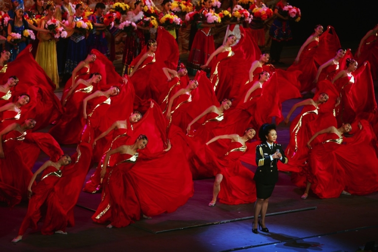 <p>Celebrated vocalist Peng Liyuan sings at Beijing's Great Hall of the People in 2007. The wife of President Xi Jinping, Peng is a valuable PR asset for the Communist Party.</p>