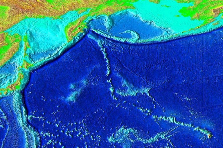 <p>The largest volcano ever discovered was found beneath the Pacific Ocean by researchers recently. The Tamu Massif is 2.5 miles tall.</p>
