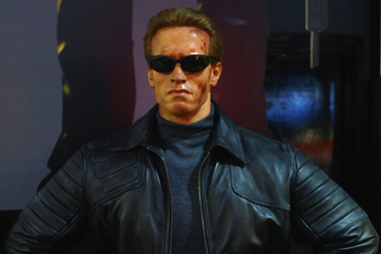 """<p>A Madame Tussauds wax model of Arnold Schwarzenegger's """"Terminator 3"""" character at the Virgin Megastore in Oxford Street, London, on Nov. 28, 2003.</p>"""
