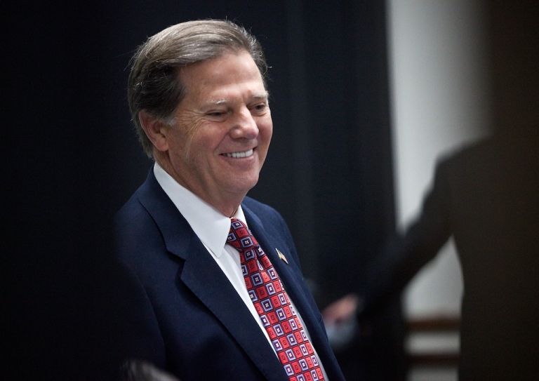 <p>Former House Majority Leader Tom DeLay arrives at court for his sentencing hearing on Jan. 10, 2011 in Austin, Texas.</p>