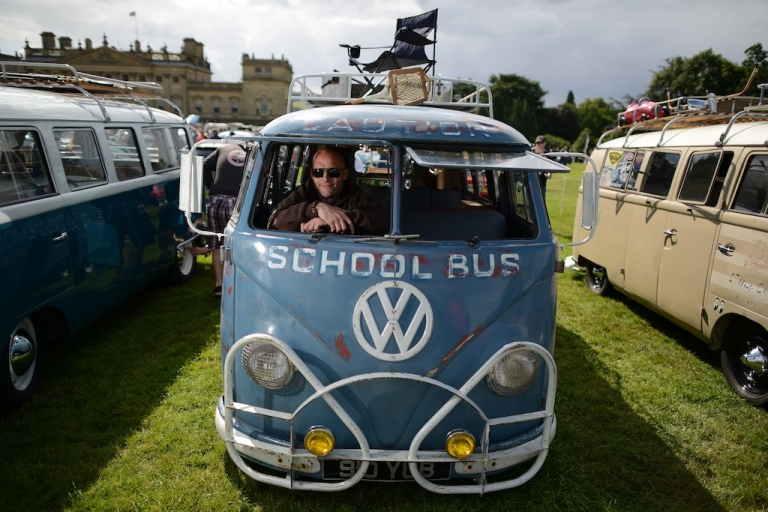 <p>The annual VW festival finished off with the winners' parade of cars on August 18, 2013 in Leeds, England. (Photo by Nigel Roddis/Getty Images)</p>