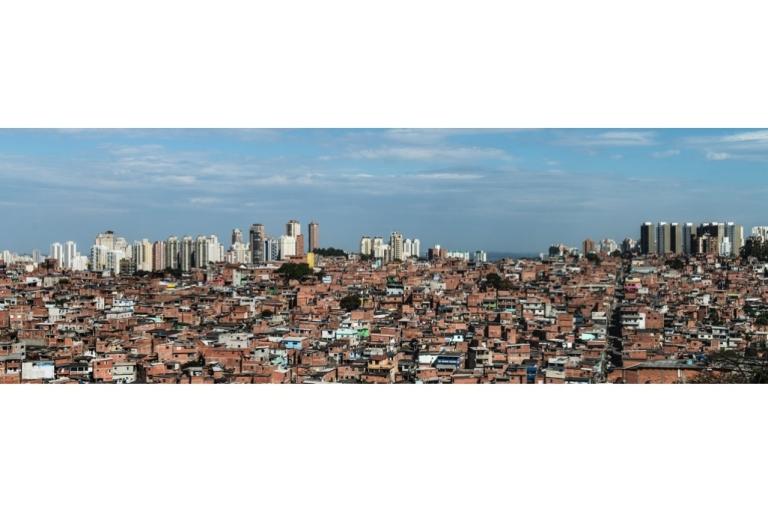 <p>Paraisopolis favela, in Sao Paulo, Brazil.</p>