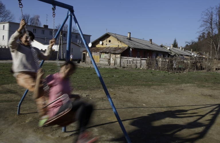 <p>Roma children in northern Hungary. The country's largest ethnic minority is scarred by deep poverty and racism and disillusioned by traditional politics.</p>
